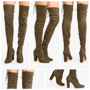 Shoes - 💜Olive Over The Knee Boot